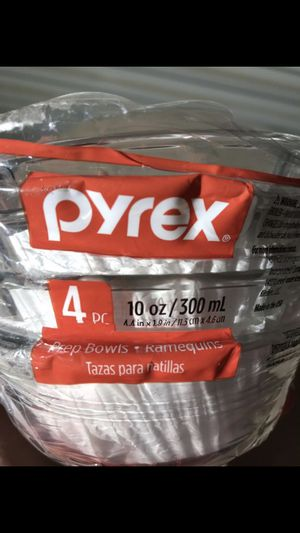 "4pcs pyrex prep bowls, diameter 4.4"", height 1.8"" for Sale in Las Vegas, NV"