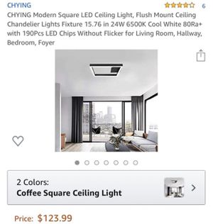Chying Modern Square Light for Sale in Rancho Cucamonga, CA