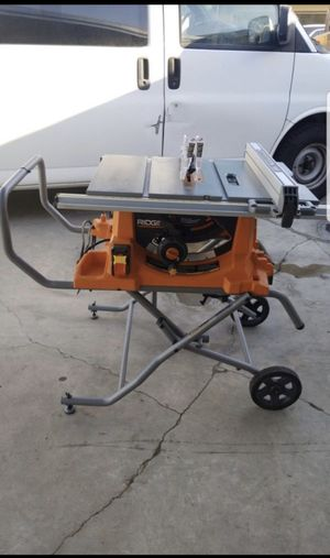 RIDGID 15 Amp Corded 10 in. Heavy-Duty Portable Table Saw with Stand for Sale in Stanton, CA