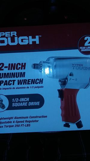 Hyper Tough 1/2 inch aluminum impact wrench. Brand new in the box, nvr actaully seen service yet..i need parts for my blazer.... for Sale in Talent, OR