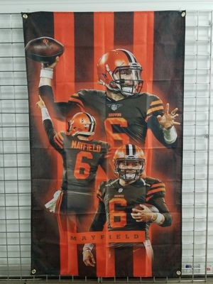 Cleveland Browns NFL QB Baker Mayfield 5ftx3ft Banner *NEW🔥SAME DAY SHIPPING! for Sale in Manassas, VA