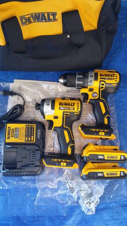 $250. Dewalt XR Brushless 3 speed impact/ Brushless Drill + Two 2.0ah battries,charger,bag for Sale in Evergreen,  CO