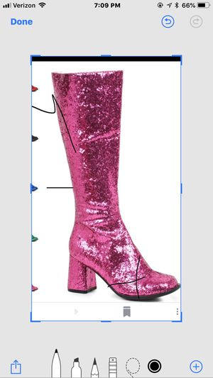 Hot pink glitter go go boots for Sale in Tampa, FL