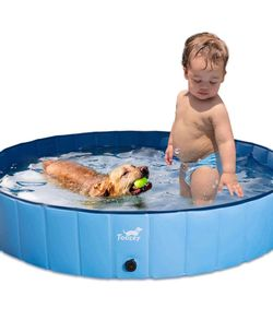New never used Foldable Dog Pool, Slip-Resistant Kiddie Pool, Portable PVC Pet Dog Swimming Pool, Plastic Kiddie Pool for Kids, Dog Pet Bath Pool for for Sale in Katy,  TX