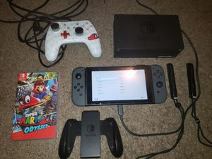 Nintendo switch with dock, extra controller and mario odysey for Sale in Carrollton, TX