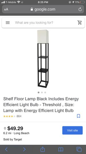 Floor lamp with shelves for Sale in Long Beach, CA