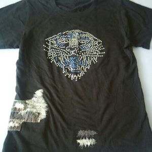 Ed Hardy t-shirt embroidered Black Junior's Size S for Sale in Modesto, CA
