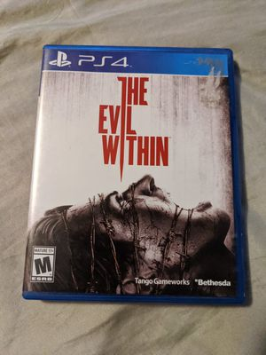 The Evil Within Sony Playstation 4 PS4 Very Good Clean Survival Horror Game for Sale in Webster, MN