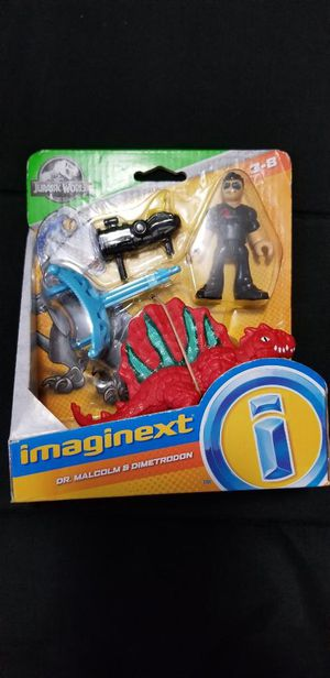 Imaginext Jurassic World Dr. Malcolm & Dimetrodon for Sale in Hialeah, FL