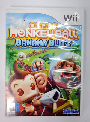 Nintendo Wii - Super Monkey Ball Banana Blitz (2006 ) - EUC for Sale in Trenton, NJ