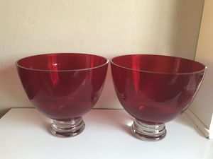 Very Large Red Matching Bowls for Sale in Fenton, MO