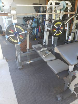 POWERHOUSE RACK WITH WEIGHTS for Sale in Honolulu, HI