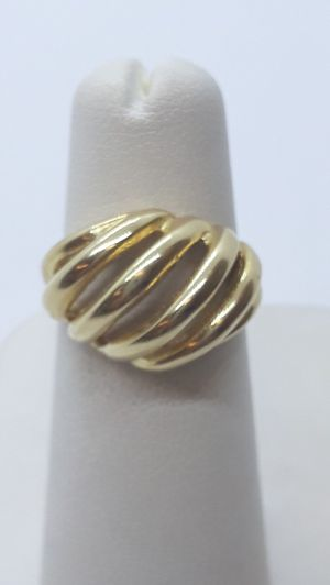 14k yellow gold dome ring 5.7 grams size 5 for Sale in Fort Pierce, FL