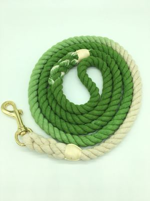 5 FT Ombre Cotton Rope Dog Leash Braided Green for Sale in Endicott, NY