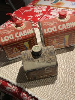 Collection Antique Log Cabin Maple Syrup Tins for Sale in Suffolk,  VA