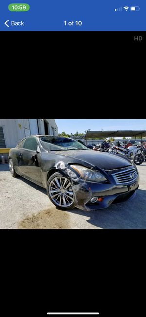 2013 Infiniti G37s Sport Parting out parts car G37 coupe 09-13 10 11 12 for Sale in Rancho Cordova, CA