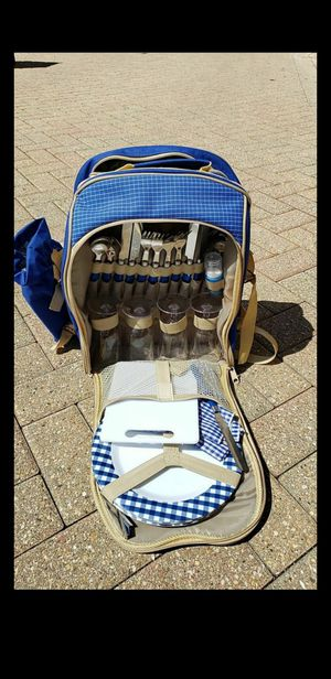 Picnic Backpack Royal Blue Plaid for Sale in Addison, IL