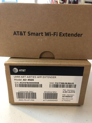 AT&T (Air 4920) Airties WIFI Extenders (2) for Sale in Eugene, OR