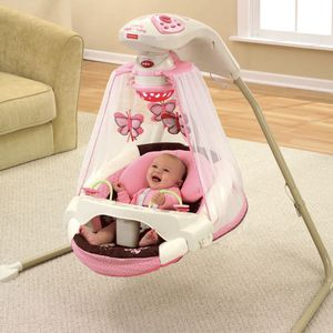 Fisher Price Butterfly Cradle Swing Infant Baby Pink Girl for Sale in Dedham, MA