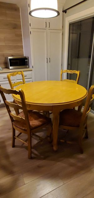 Dining Room Table with Leaf and Chairs for Sale in Oceanside, CA