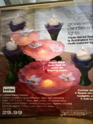 Lighted floral fountain for Sale in The Bronx, NY