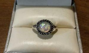 Brand New Fashion Silver Opal Braided Ringm for Sale in Pawtucket, RI