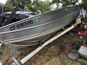 ~~~12' Welded Aluminum Finish boat and trailer~~ for Sale in North Highlands, CA
