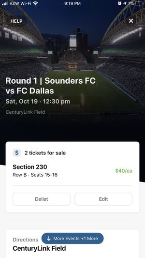 Sounders vs FC Dallas Playoffs for Sale in Seattle, WA
