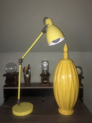 Yellow lamp and vase for Sale in Columbus, OH