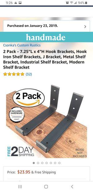 Shelf brackets. Custom rustic for Sale in Citrus Heights, CA