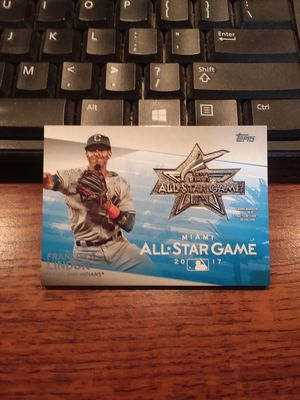 2018 Toppe Baseball Series 1 MLB All-Star Game Medallion Francisco Lindor Card for Sale in Parma Heights, OH
