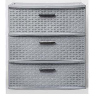 3 Drawer Wide Weave - Gray - Room Essentials for Sale in Sunnyvale, CA