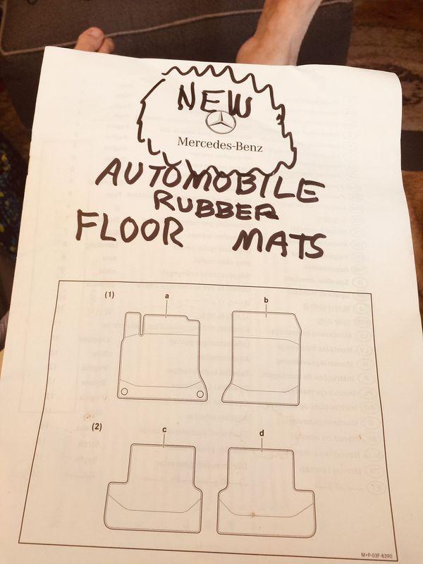 Mercedes-Benz rubber mats