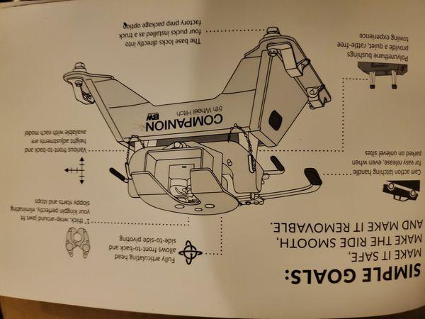 B&W 5th wheel companion base new