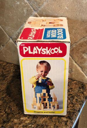 Playskool 640 natural wood blocks 1982 for Sale in Katy, TX
