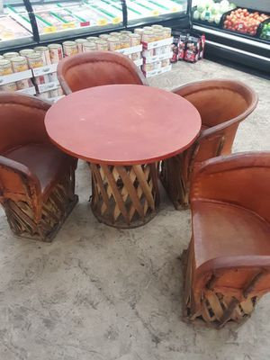 Rustic leather equipale set for Sale in Wenatchee, WA