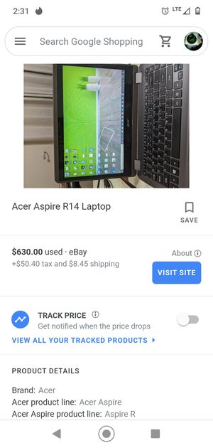 Acer aspire r 14 touchscreen convertible laptop for Sale in Midland, TX