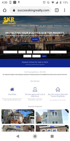 Real estate website for Sale in Queens, NY