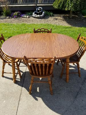Dining Room Table with 4 Chairs for Sale in Shelby, OH