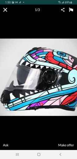 Tanked racing Motorcycle full face Helmet for Sale in South Gate,  CA