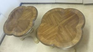 2 beautiful matching wood end tables for Sale in Denver, CO