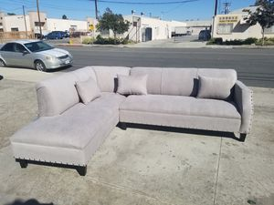 NEW 7X9FT ANNAPOLIS LIGHT GREY FABRIC SECTIONAL COUCHES for Sale in San Diego, CA