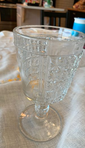 Cut glass water goblet for Sale in Golden, CO