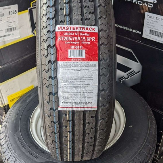 "15"" Inch Mastertrack size ST205/75-15 Trailer Tire Heavy Duty ... $69 EA"