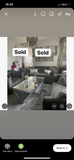 3-piece couch set and coffee table....table has two small cracks for Sale in Beachwood,  OH