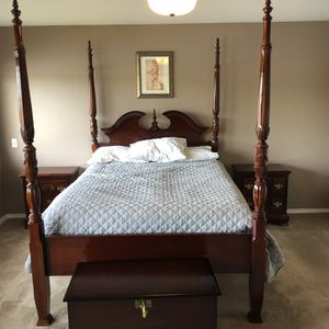 Beautiful Rosewood for post poster bed and matching end tables for Sale in Bellevue, WA
