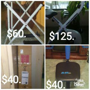 Exercise equip, new bed frame for Sale in Jena, LA
