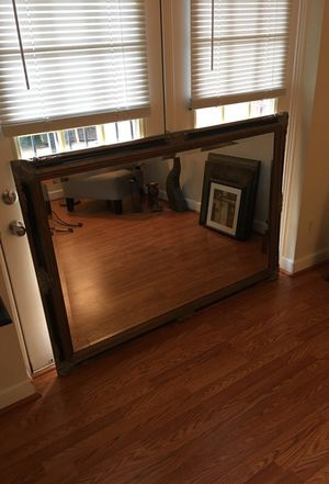Vintage Wood Grain Mirror for Sale in Silver Spring, MD