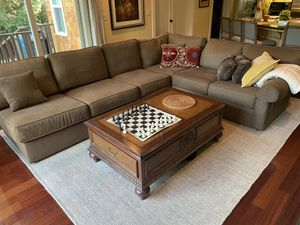 Ethan Allen Sectional Sofa and Coffee Table! for Sale in Menlo Park, CA