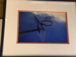 Beautiful basketball hoop wall decor in excellent condition great for kids room. for Sale in Beaverton, OR